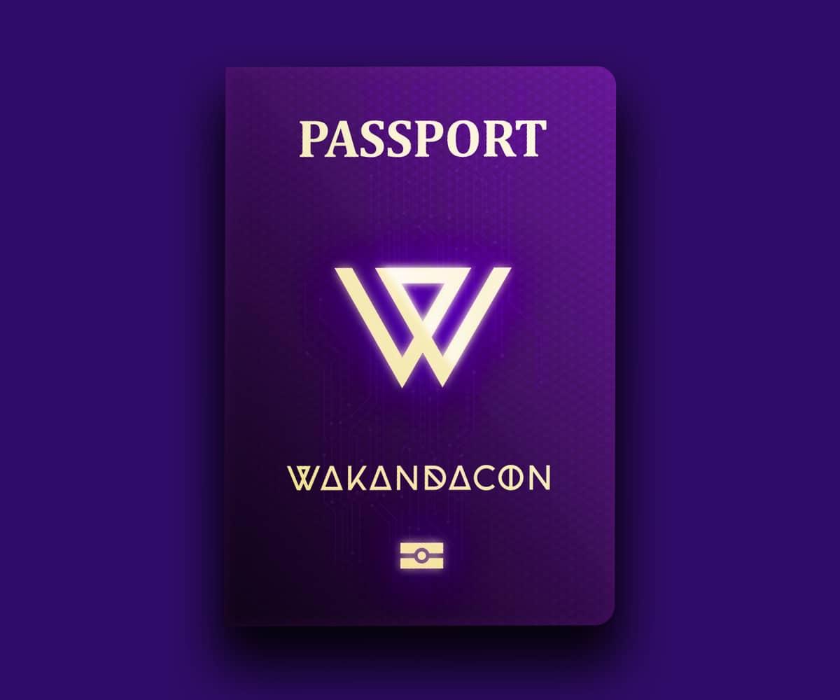 Wakandacon badge
