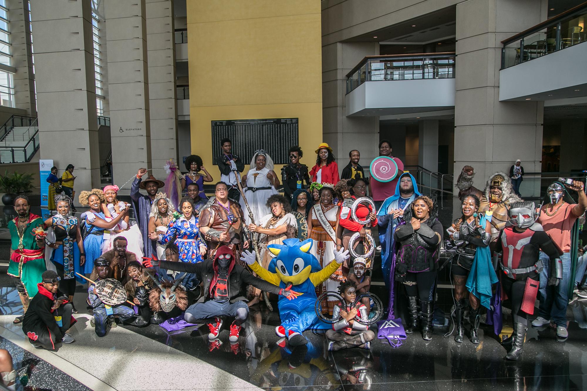 Wakandacon attendees 2019